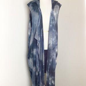 Coin 1804 Tie Dye Sleeveless Long Duster NWT 3x